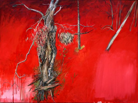 Marco Corsini, Red, oil on canvas, 2012