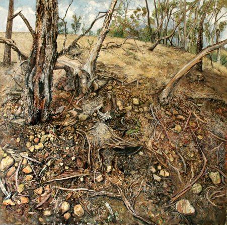 Marco Corsini, Where I Stand, 2010, oil on canvas, 100 cm. x 100 cm.