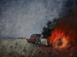 Burning Up, 2009, oil on canvas, 92 cm. x 122 cm.
