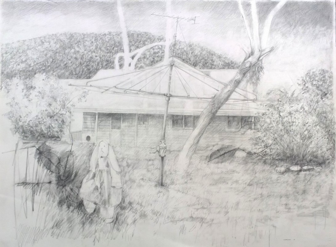 Marco Corsini, He doesn't want play today, 2013, pencil on paper, 57 cm. x 76 cm.