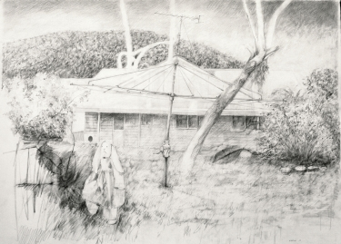 He doesn't want play today, 2013, pencil on paper, 57 cm. x 76 cm. m